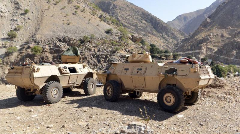 In this Aug. 25, 2021, file photo, armored vehicles are seen in Panjshir Valley, north of Kabul, Afghanistan. (Photo: AP)
