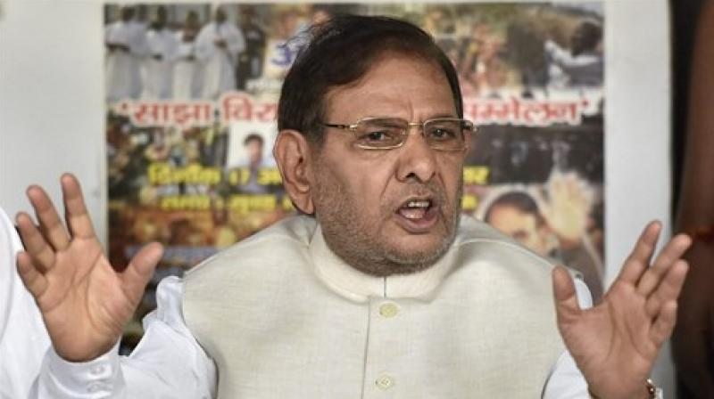 Ahead of his meeting, Sharad Yadav accused the BJP of putting the country's unity at risk through divisive politics. (Photo: PTI)