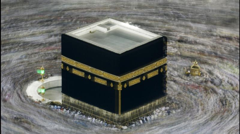 Kaaba in Mecca's Grand Mosque. AFP photo