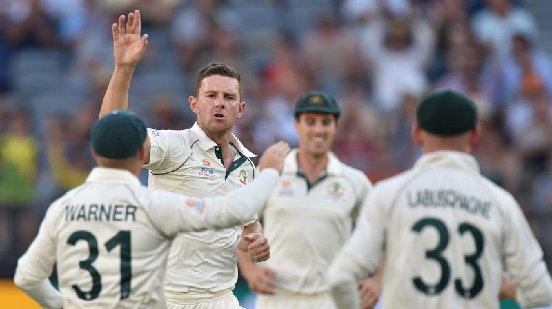 Australia's Josh Hazlewood was on Saturday ruled out of the first Test against New Zealand due to a hamstring strain.  (Photo:AFP)