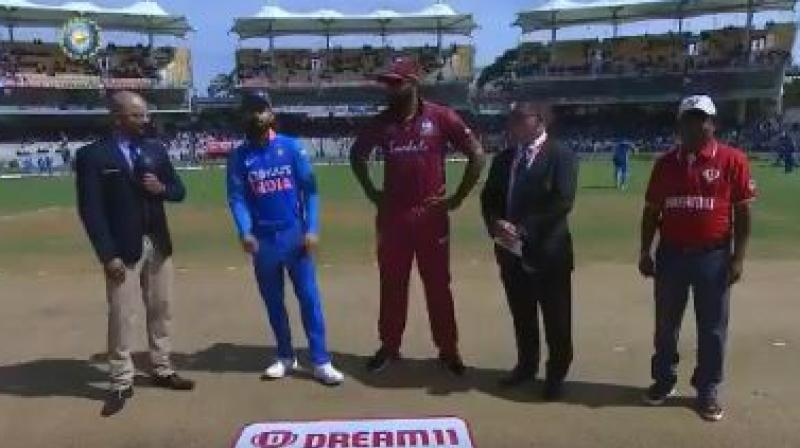 West Indies won the toss and asked India to bat first in the first ODI of the three-match series at the MA Chidambaram Stadium in Chennai on Sunday. (Photo:BCCI)