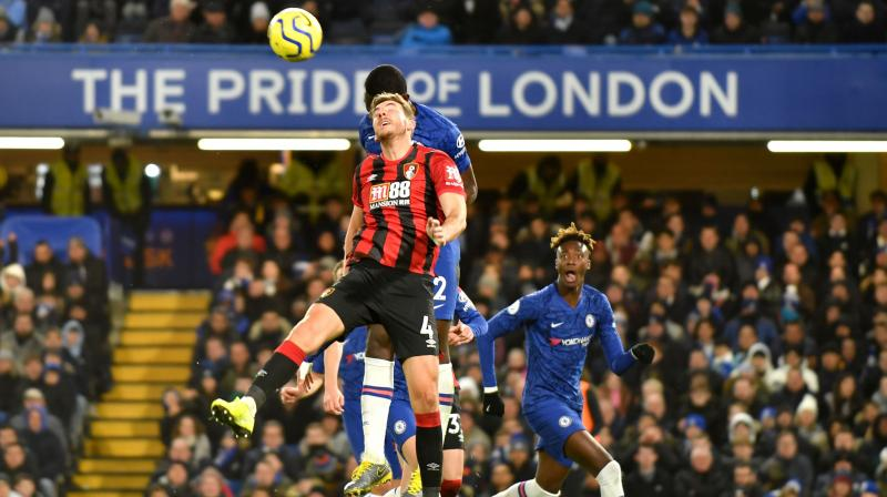 Chelsea suffered a dispiriting 1-0 loss at home to Bournemouth as a late Dan Gosling goal secured all three points for the visitors to end their five-match losing streak and condemn the London side to a fourth defeat in five Premier League games. (Photo:AFP)