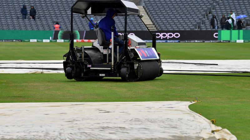 The umpires were due to hold a pitch inspection at the scheduled start time of 10:30 am local time (09:30 GMT). (Photo: AFP)