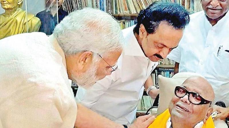 Prime Minister Narendra Modi on Tuesday described DMK president M Karunanidhi as a deep-rooted mass leader who stood for regional aspiration and national progress and will travel to Chennai tomorrow morning to pay his last respect.