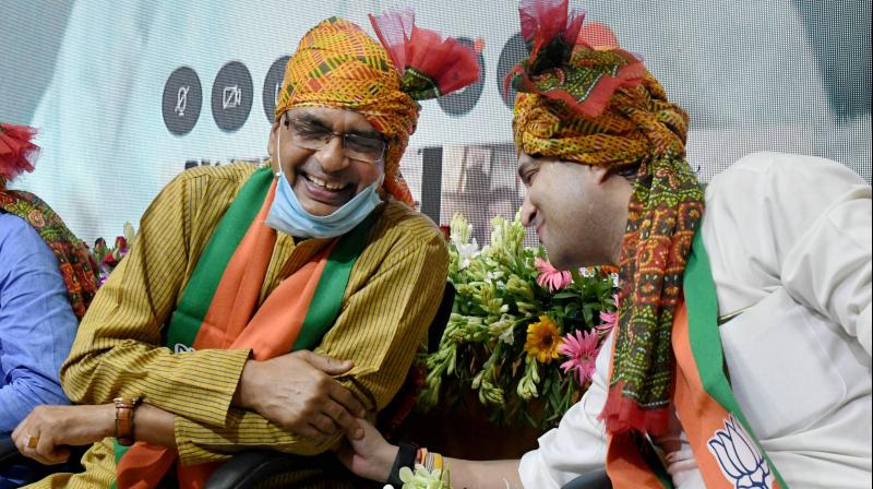 MP chief minister Shivraj Singh Chouhan (Left) in a file photo. (PTI)