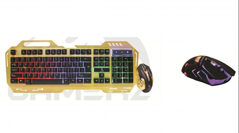 Gamerz series gaming mouse and gaming keyboard.