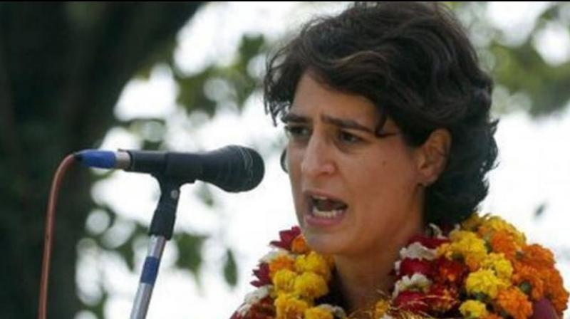 Taking to Twitter, Priyanka Gandhi also posted a media report that claimed that administrative officials performed Chinamayanand's 'aarti' a year ago. (Photo: File | PTI)
