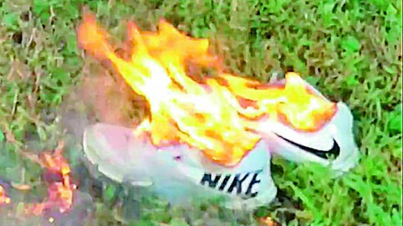 The two-minute-long Nike advertisement features a range of athletes. The video went viral and soon after the hashtag #JustBurnIt started trending with pictures and videos of protesters burning Nike merchandise.