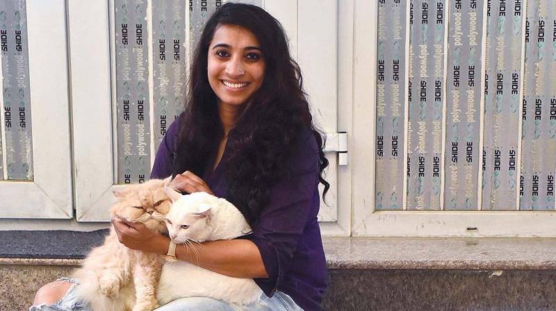 Tejasvi Singh with Dolly and Nala.