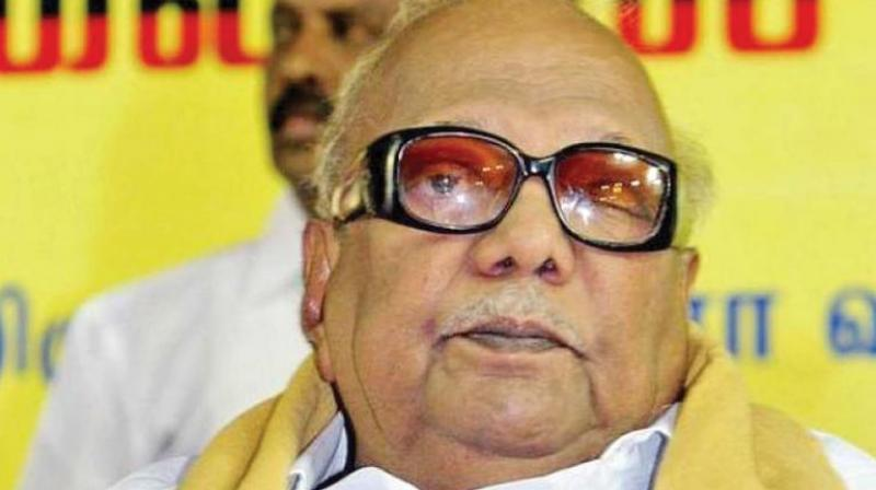 DMK supremo Karunanidhi breathed his last on Tuesday in Chennai. He was 94. (Photo: File)