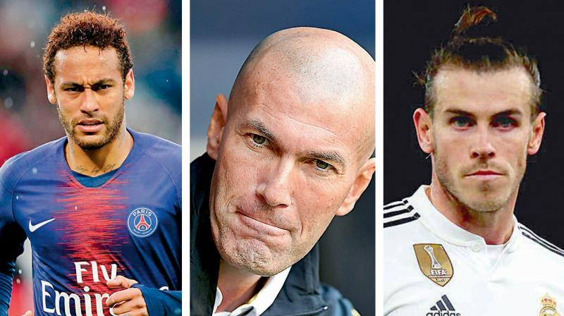 After the game, Zidane was also asked about a possible move for Paris Saint-Germain striker Neymar but he refused to address the issue. (Photo: AFP)