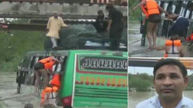 After the onerous rescue operation, all the passengers were rescued safely. (Photo: ANI)