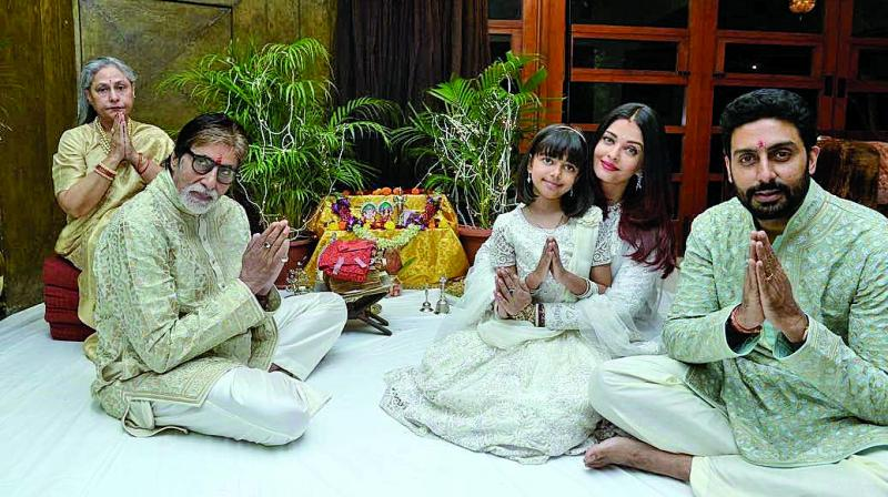 Bachchan's Diwali party is a regular one for Bollywood along with Shabana Azmi and Javed Akhtar's taash parties.
