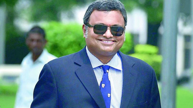 Karti Chidambaram is accused of allegedly receiving Rs 3.5 crore from the Mumbai-based INX Media for helping it get FIPB clearance in 2007. (Photo: File)