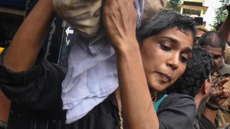 A controversy had erupted in Kerala after Fathima made an attempt to enter the Sabarimala temple when it was opened for monthly puja in October. (Photo: File)
