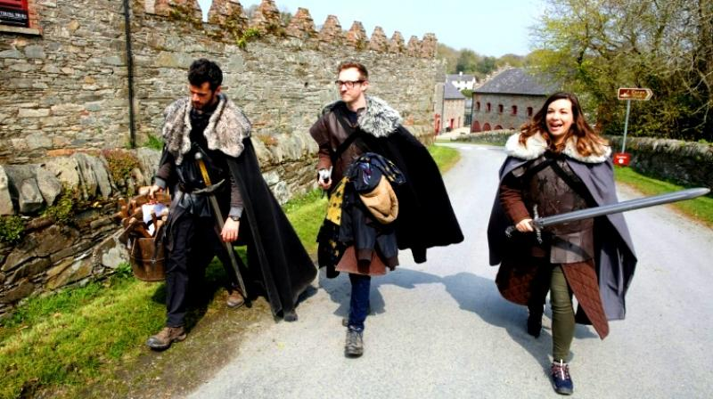 'Game of Thrones' fans take part in the tourist experience at the Castle Ward Estate in Strangford, Northern Ireland, the location of Winterfell in the hit TV series that has triggered a tourism boom in the British province. (Photo: AP)
