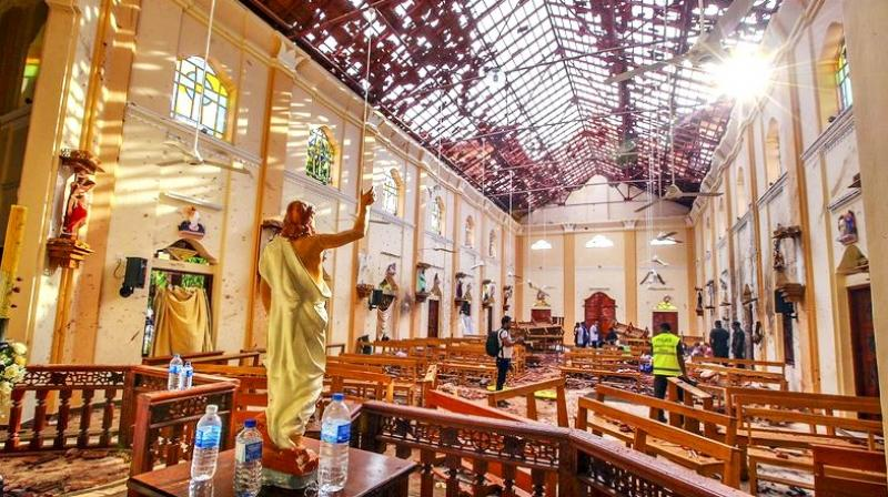 Damaged St Sebastian's Church in Negombo after the Easter Sunday attack, north of Colombo. (Photo: AP)