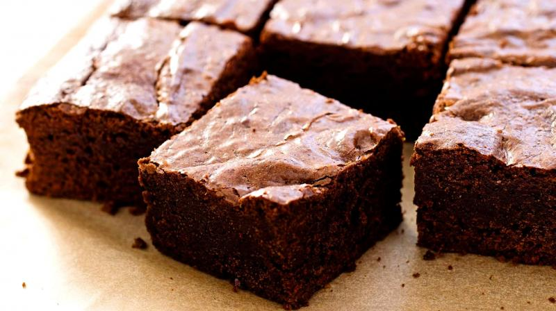 These fudgy triple-chocolate brownies are simple to make and to die for. (Photo: AP)