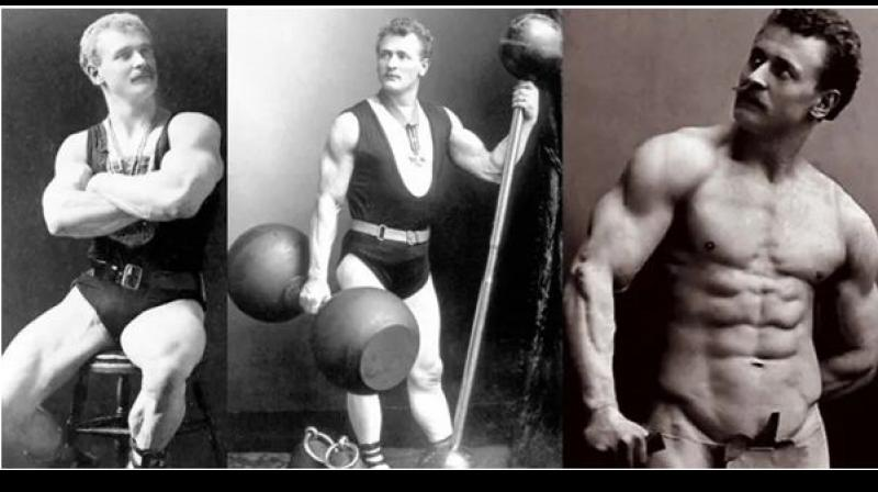 Sandow spent a couple of years travelling Europe as a circus strongman. Eventually he ended up in Brussels, where he first met Ludwig Durlacher. — By arrangement