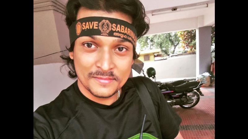 A team of police personnel from Kochi took Easwar into custody from his flat in Thiruvananthapuram in connection with case registered under IPC Sections 153 and 117, police said. (Photo: Twitter | @RahulEaswar)
