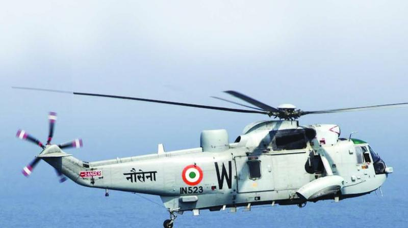 """The deals, however, also encompass several proposals for the """"Make in India"""" initiative, including 111 utility and surveillance helicopters for the Navy, besides multi-role copters for submarine warfare intent."""