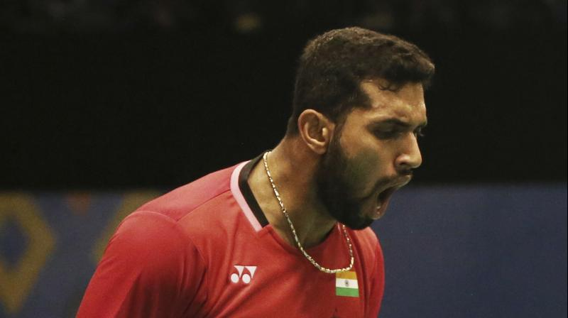 HS Prannoy  thrashed Lee Chong Wei of Malaysia 21-10, 21-18 to set up a last-eight clash against eighth-seed Chen Long of China.(Photo: AP)