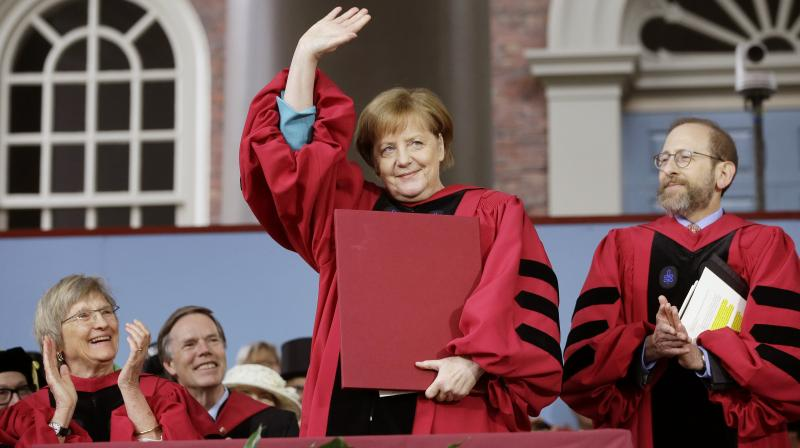 'I experienced firsthand how nothing has to stay the way it is,' she said. (Photo:AP)