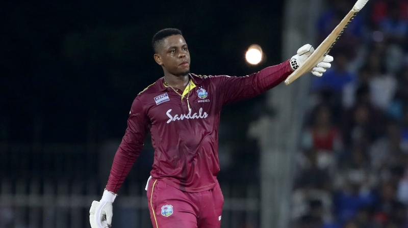 Shimron Hetmyer, who scored a century and built a 218-run match-winning partnership with Shai Hope, said he wants to enjoy his batting as much as possible. (Photo: AP)