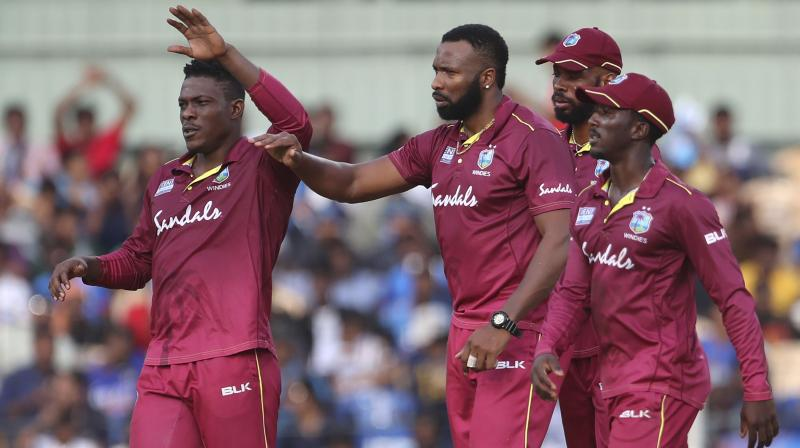 West Indies have been fined for maintaining a slow over-rate against India in the first ODI match in Chennai on Sunday. (Photo: AP)