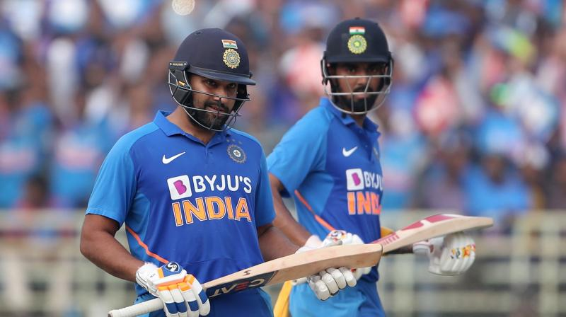 KL Rahul and Rohit Sharma on Wednesday registered the highest ever opening partnership by an Indian pair against West Indies in the One Day Internationals. (Photo: PTI)