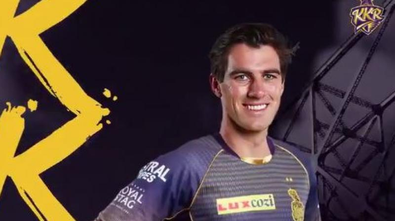 Australian pacer Pat Cummins on Thursday shattered the record for the most expensive foreign buy ever in the IPL players' auction here as Kolkata Knight Riders shelled out a whopping Rs 15.50 crore for him. (Photo: Twitter/ KKR)