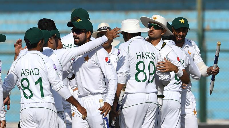 Pakistan have grabbed 60 points for their victory over Sri Lanka in the Karachi Test to move to third place with 80 points in the ICC World Test Championship (WTC) standings at the end of the two-match series. (Photo:AFP)