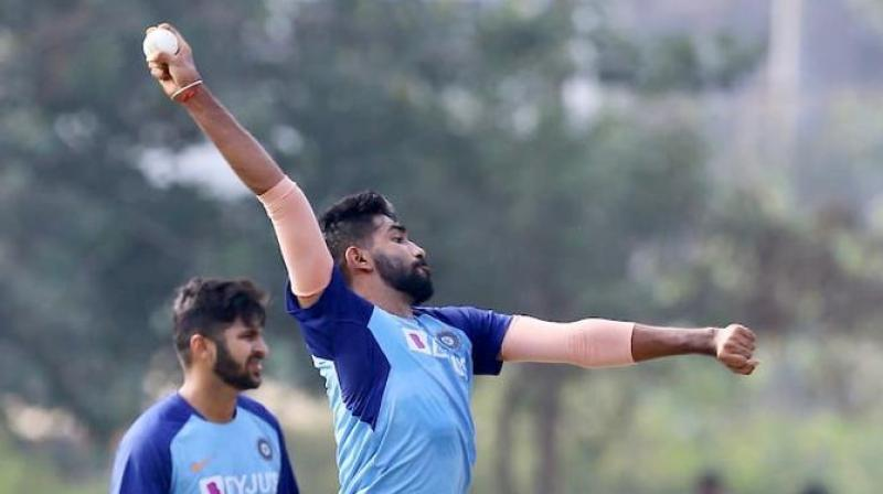 Star India pacer Jasprit Bumrah's fitness will be tested ahead of his national comeback when he turns out for Gujarat in their Ranji Trophy match against Kerala, beginning here on Wednesday. (Photo: Twitter/ Jasprit Bumrah)