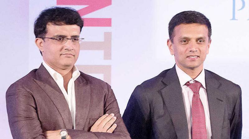 Board of Control for Cricket in India (BCCI) president Sourav Ganguly on Thursday arrived here at the cricketing body's headquarters for a meeting with Rahul Dravid. (Photo: Twitter)