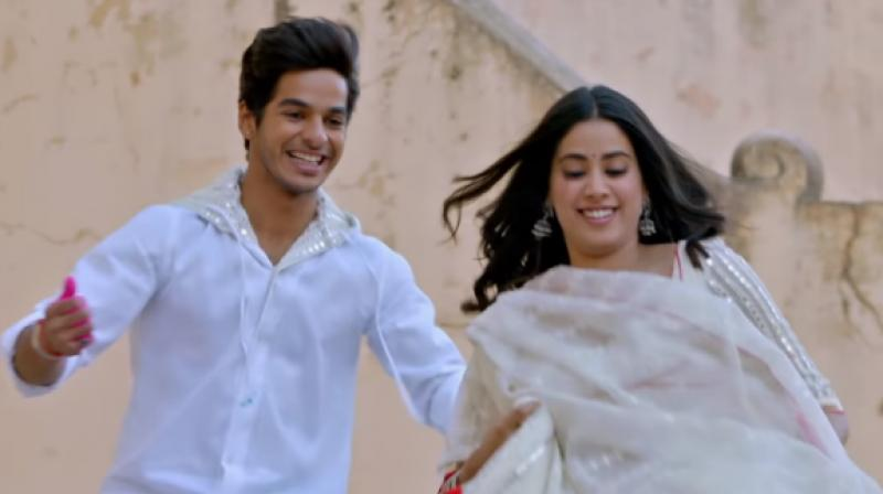Ishaan Khatter and Janhvi Kapoor in a still from 'Dhadak.'