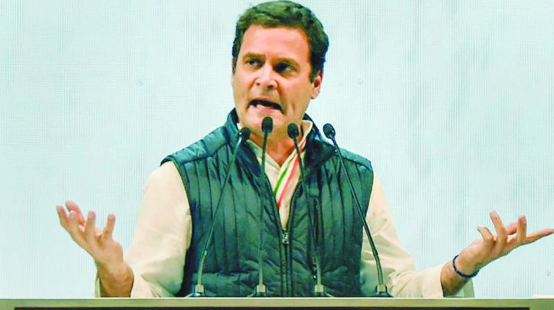 During the three-day visit, Congress chief Rahul Gandhi will address public meetings in Kolar, Bengaluru rural, Chikkballapura, Tumakuru districts and Bengaluru city.(Photo: File)