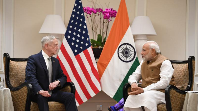 Modi, who is in Singapore on the last leg of his three-nation tour, held a closed-door meeting with Mattis during which both sides discussed all security related issues of mutual and global interests. (Photo: ANI   Twitter)