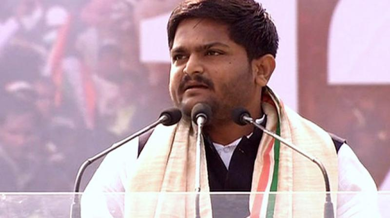 Patel, 25, had started preparations to contest from Jamnagar on a Congress ticket after joining the party on March 12 and the last date for filing of nominations is April 4. (Photo: ANI| Twitter)