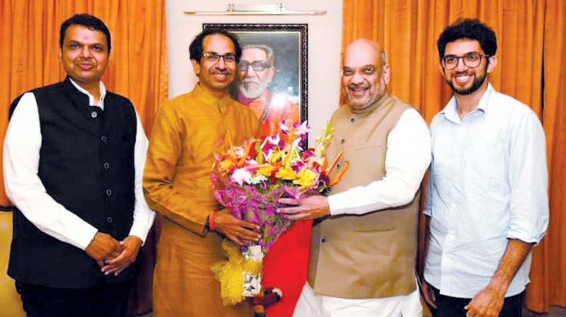 The Bharatiya Janata Party-Shiv Sena alliance is buoyant ahead of the counting of votes for the Lok Sabha polls on Thursday. (Photo: Asian Age)