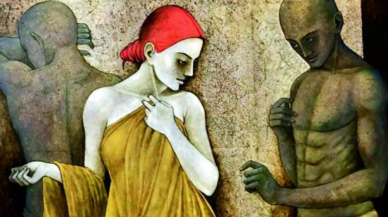 Relation series: One of the artworks by artist Asit Kumar Patnaik which will be on display at AAF.