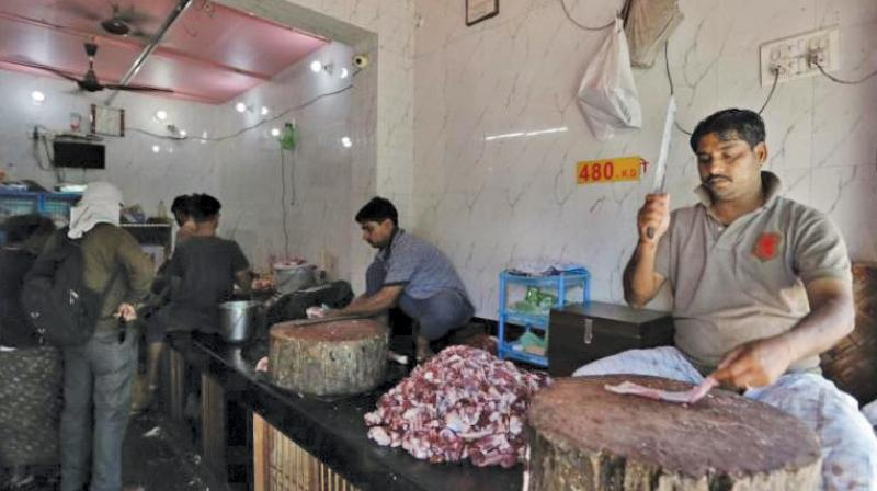 Report claims 50 per cent of meat shops are illegal in city.
