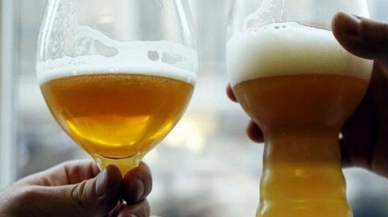 But one can only reap benefits from beer if it is consumed in moderation (Photo: AFP)