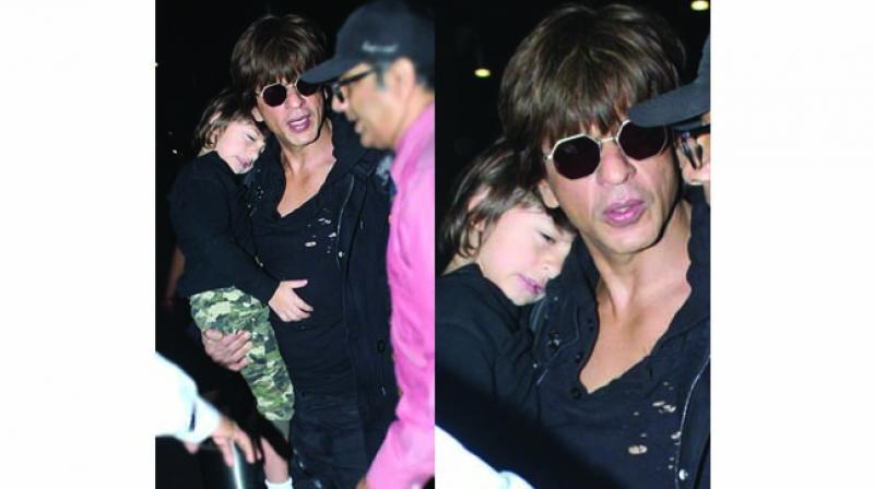 Shah Rukh Khan with his son
