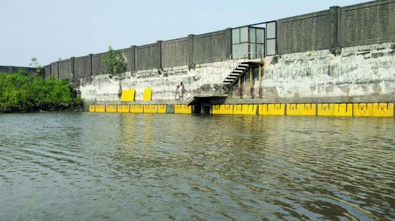 File picture of sluice gates installed at Panje wetlands.
