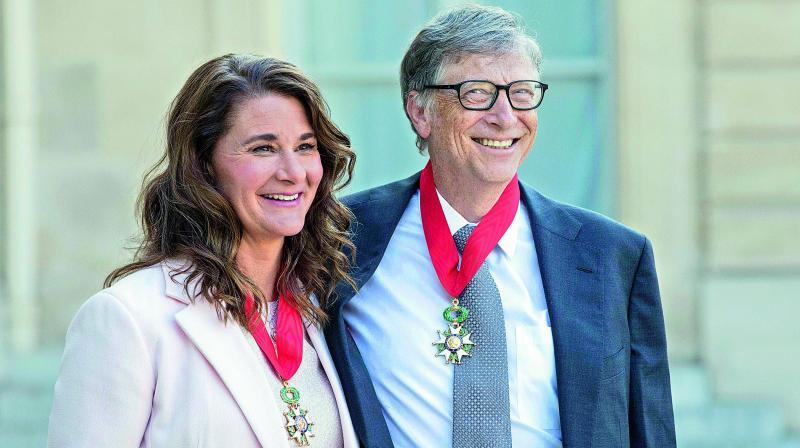 Bill Gates with Melinda Gates