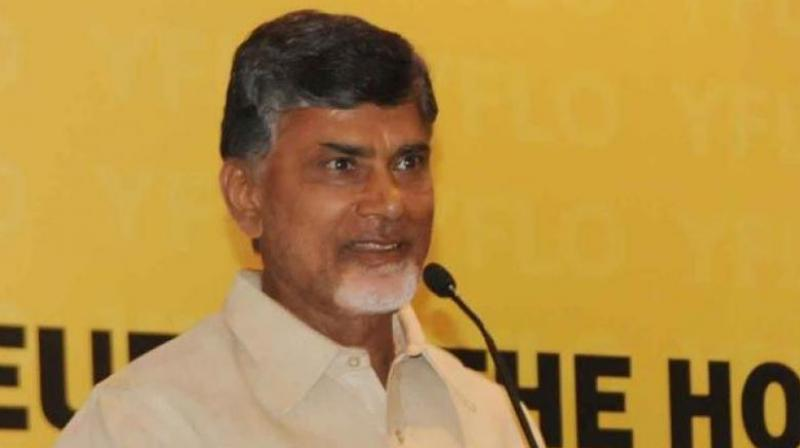 Demanding special status for his state, Andhra Chandrababu Naidu held 'Dharma Porata Deeksha' (struggle for justice) protest against the BJP-led NDA government at the Centre, at Srikakulam town on Saturday. (Photo: File)