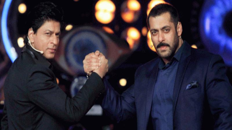 Bollywood superstars Shah Rukh Khan and Salman Khan. (PTI File)