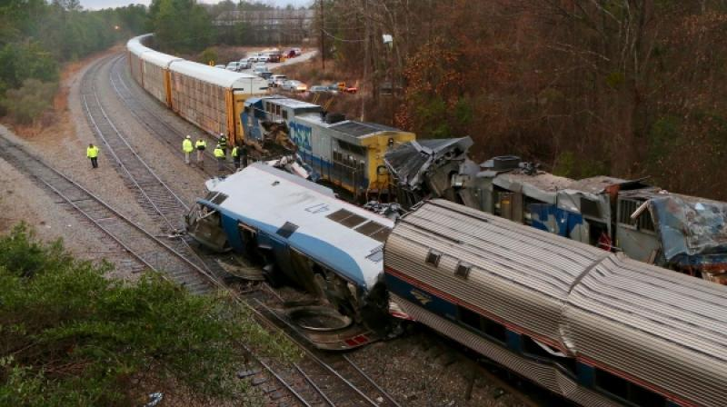 The Silver Star was on its way from New York to Miami with nearly 150 people aboard around 2:45 am when it plowed into the CSX train at an estimated 59 mph. (Photo: AP)