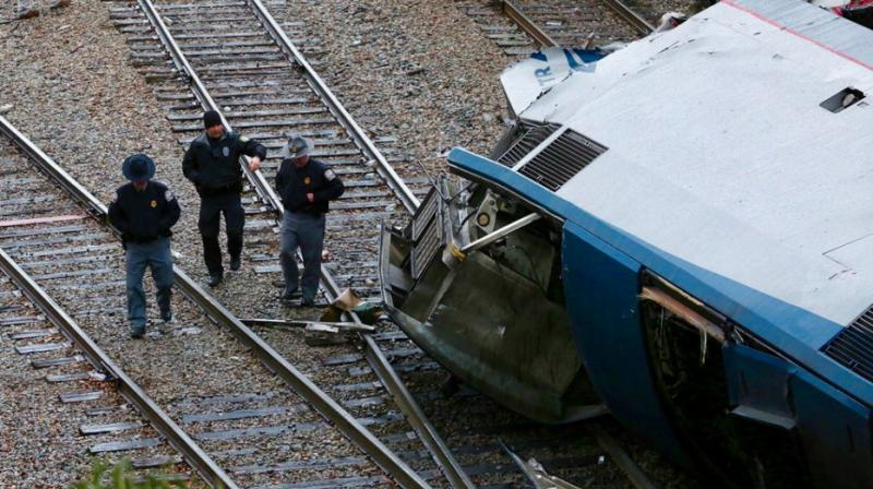 The passenger train hurtled down a side track near Cayce around 2:45am Sunday after a stop 10 miles north in Columbia because a switch was locked in place, diverting it from the main line. (Photo: AP)