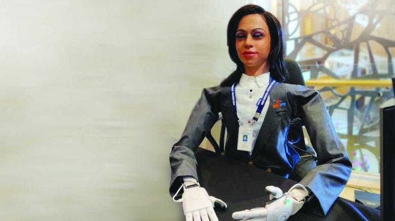 The half-humanoid robot, 'Vyom Mitra', is capable of conversing with astronauts, recognising them, and responding to their queries.